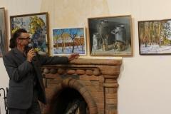 Автор картин А.Е. Гурин на открытии персональной выставки в музее Самое лучшее