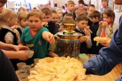 Горячие блины в музее на Масленицу