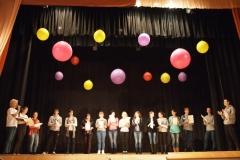Ночь искусств-на сцене капитаны 15 команд участников игры квест