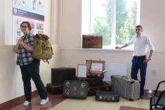 Передвижная выставка Верный спутник чемодан на жд вокзале города Камышлова