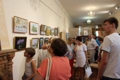 Посетители выставки Вдохновение 2016 в День города