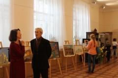 Посетители выставки картин А.Е. Гурина Самое лучшее